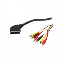 SCART to 6x RCA Cable