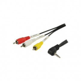 Jack AV to 3x RCA Cable
