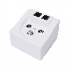 Wallbox - TV/FM/SAT/RJ45/RJ11