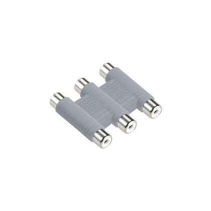 Coupler - 3x RCA-female/RCA-female